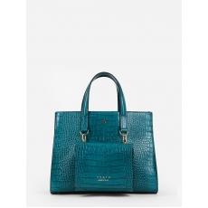 Agata 1059 cocco brunello turchese., женская сумка