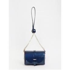 Di Gregorio 8520 vernice blu, женская сумка  через плечо